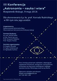 III Konferencja Astronomia - nauka i wiara